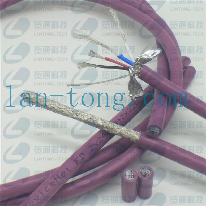 CANopen/DeviceNet拖链细电缆PUR FD运动布线