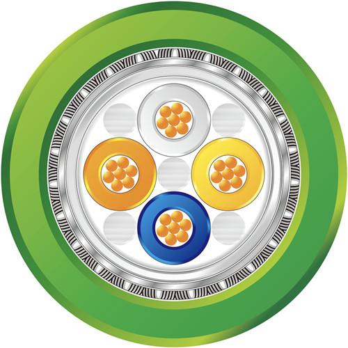 ProfiNet Type B 4XAWG22/7 7股 FRNC绿色 固定布线